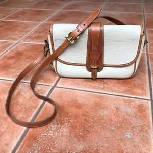Dooney & Bourke Vintage White Equestrian Crossbody
